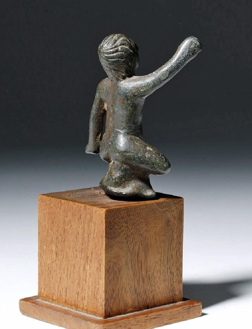 Roman Bronze Statuette of Young Boy - 3