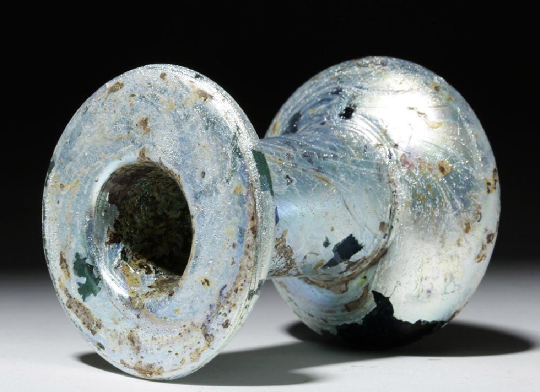 Incredibly Iridescent Roman Glass Vessel - 4