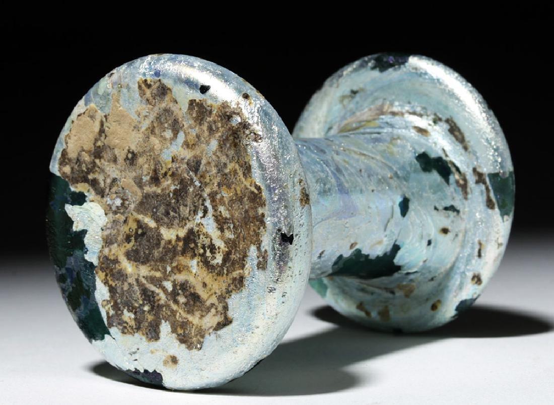 Incredibly Iridescent Roman Glass Vessel - 5