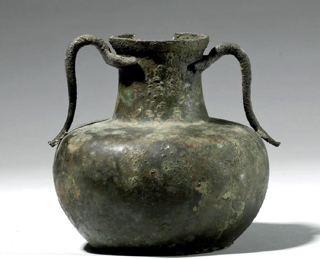 Roman Bronze Two-Handled Jug
