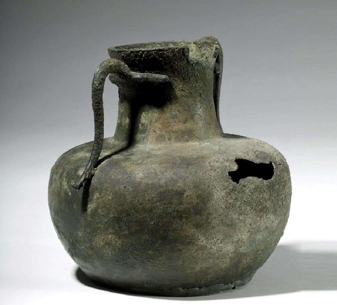 Roman Bronze Two-Handled Jug - 2