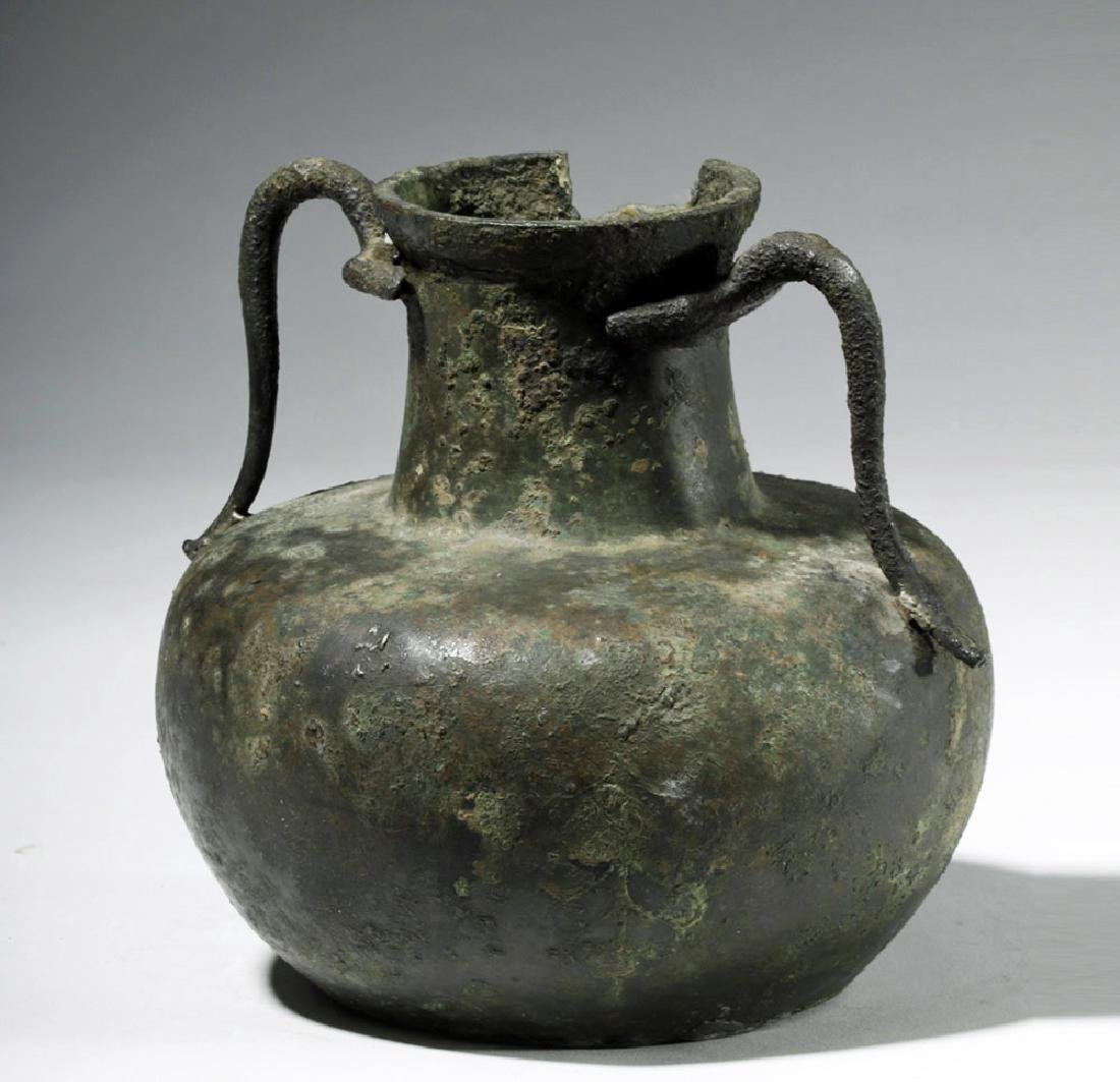 Roman Bronze Two-Handled Jug - 5