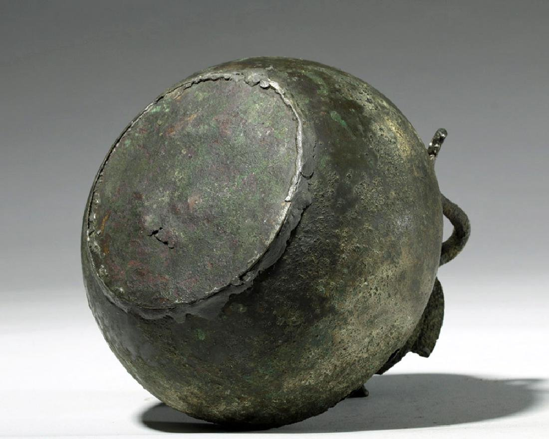 Roman Bronze Two-Handled Jug - 7