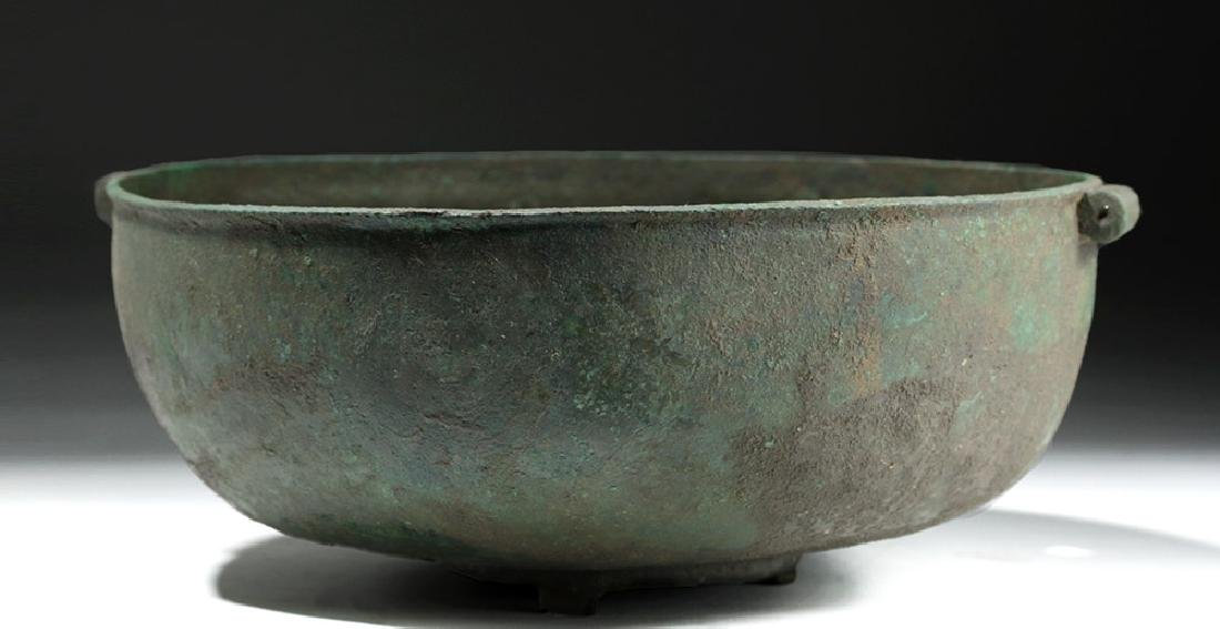 Large Roman British Bronze Bowl with Handles
