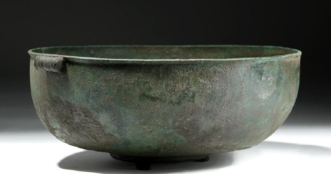 Large Roman British Bronze Bowl with Handles - 2