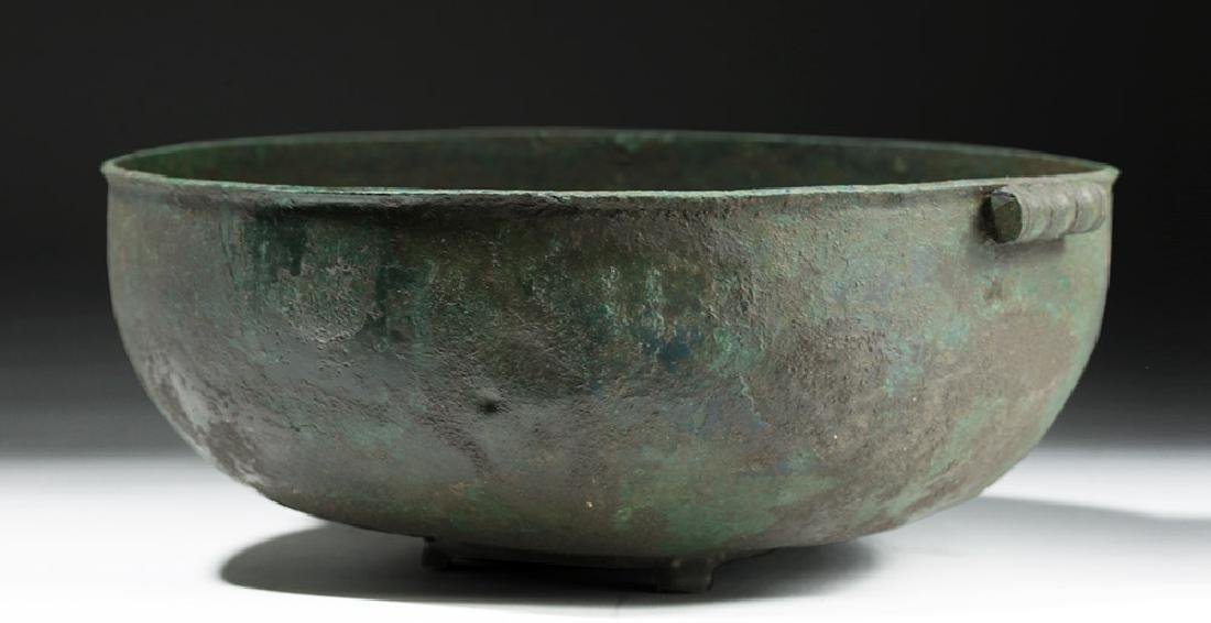 Large Roman British Bronze Bowl with Handles - 3