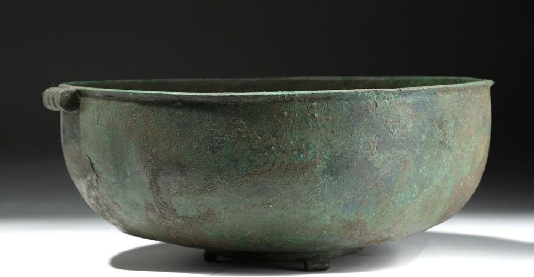 Large Roman British Bronze Bowl with Handles - 4