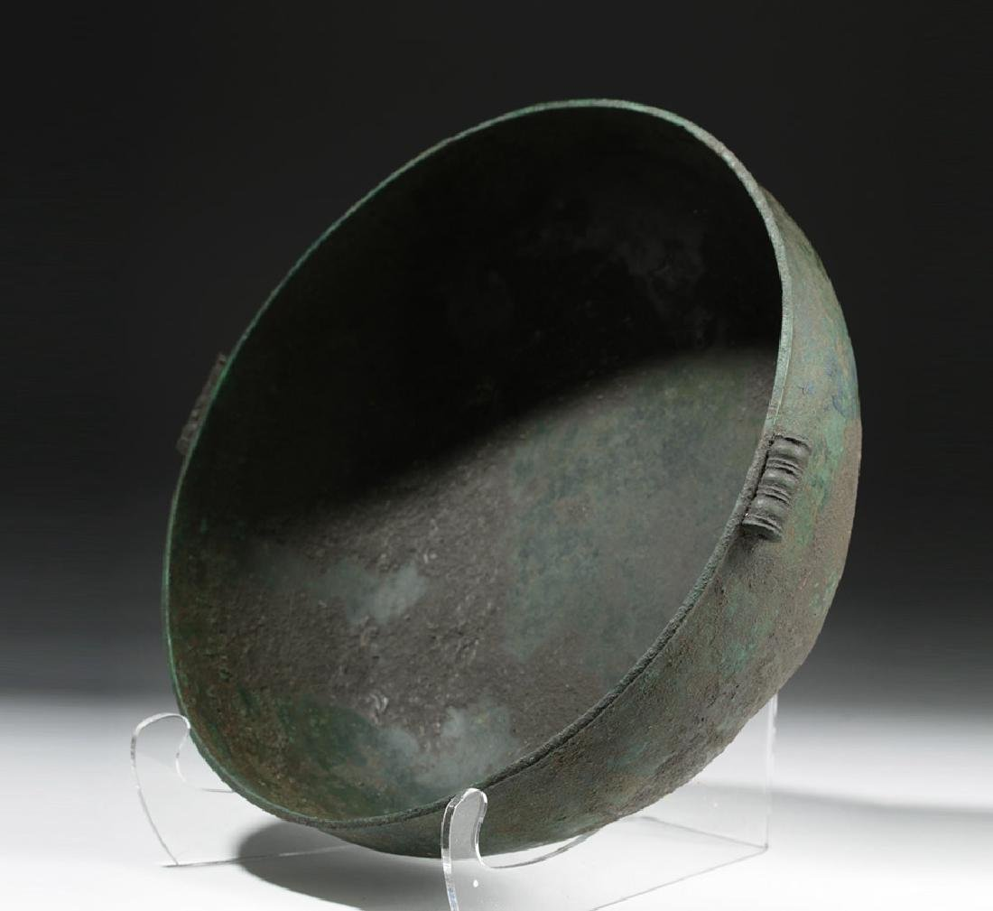Large Roman British Bronze Bowl with Handles - 5