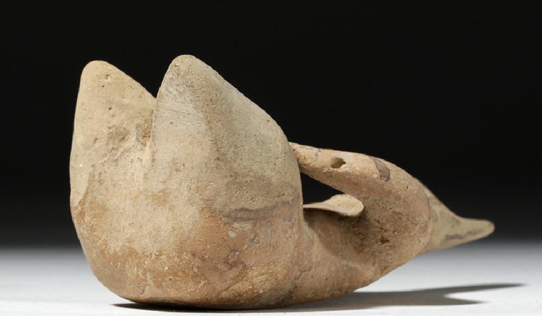 6000 Year Old Tell Halaf Pottery Fertility Figure - 6
