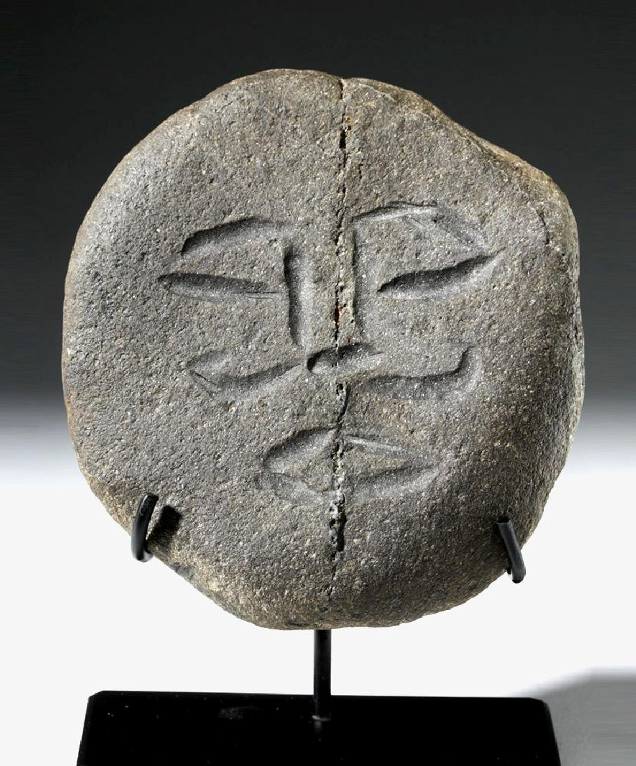 Rare Ancient British Celtic Stone Face
