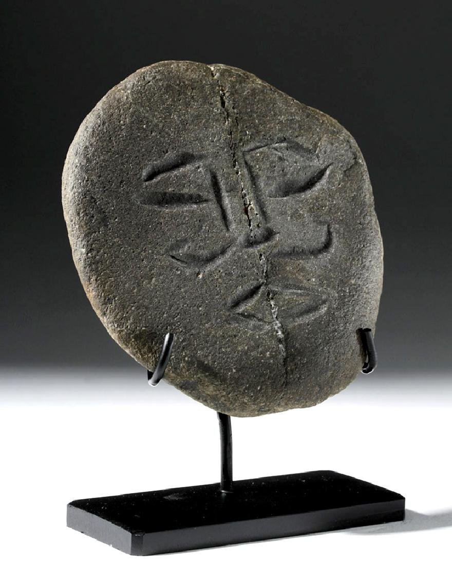 Rare Ancient British Celtic Stone Face - 2