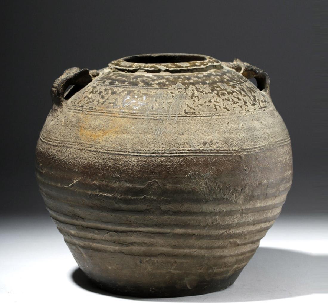 Chinese Six Dynasties Brown-Glazed Jar