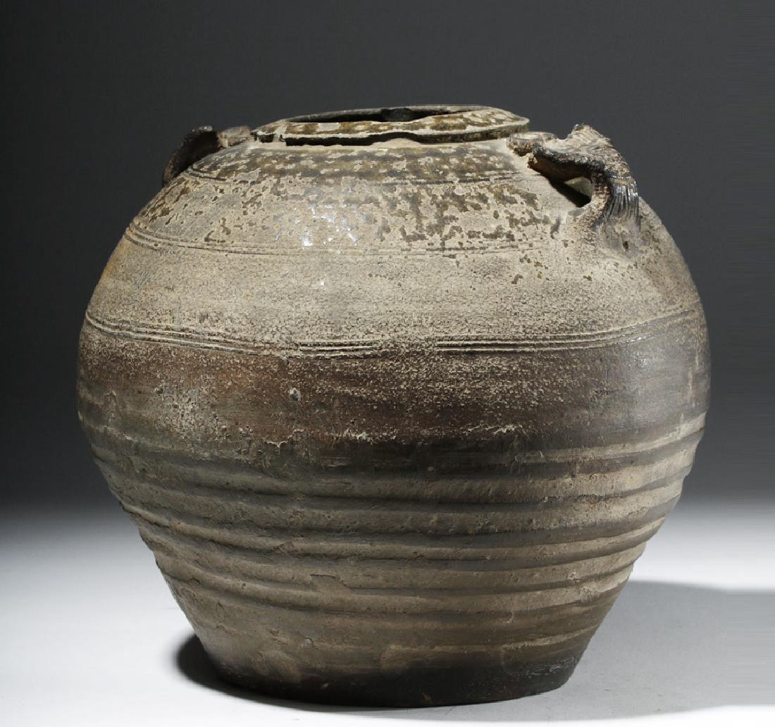 Chinese Six Dynasties Brown-Glazed Jar - 2