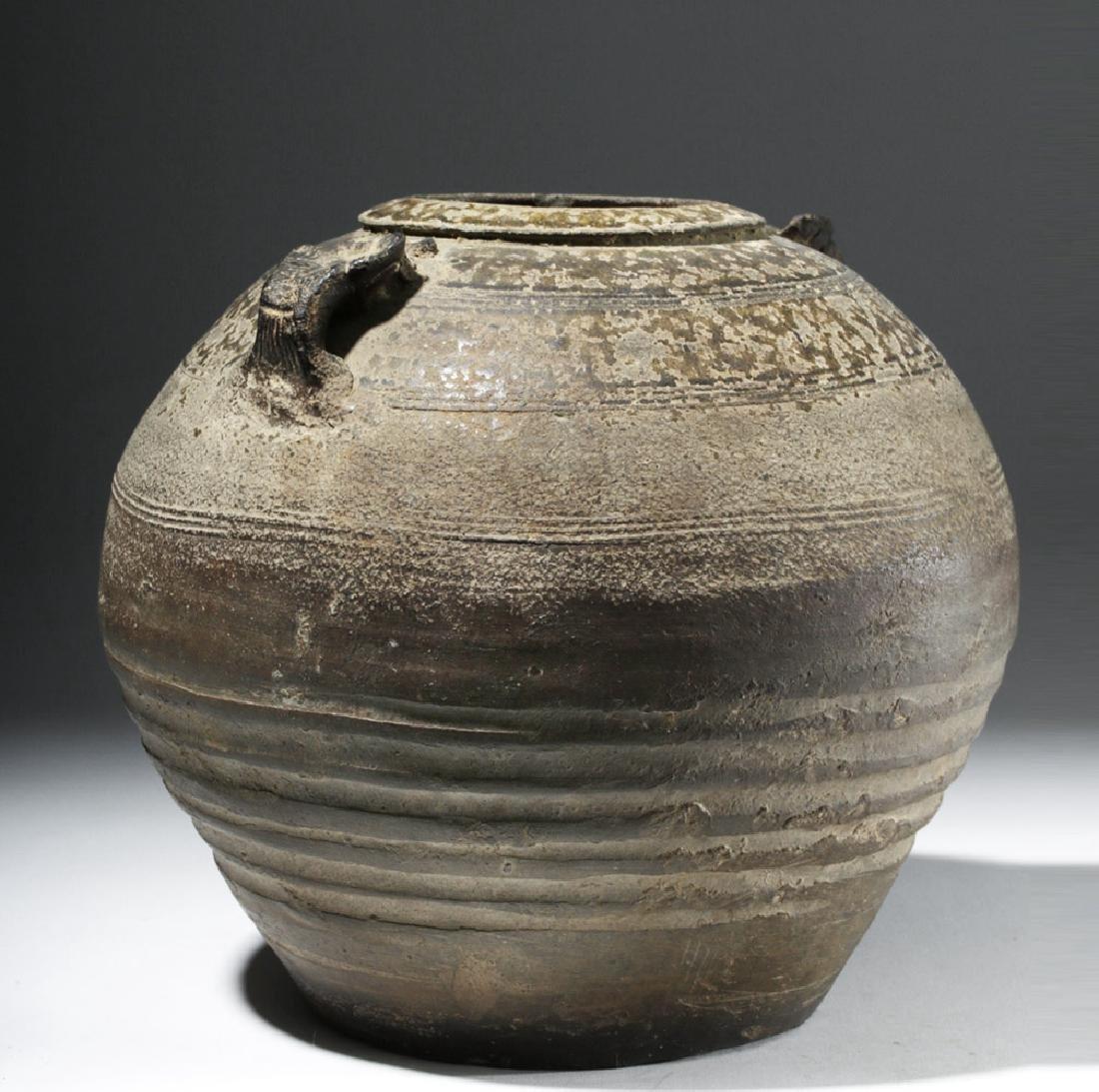 Chinese Six Dynasties Brown-Glazed Jar - 3