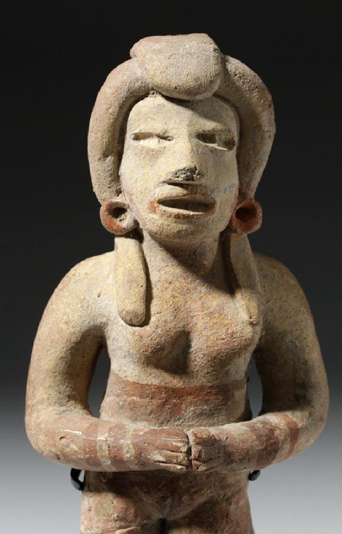 Very Early Tlatilco Pottery Standing Female - 6
