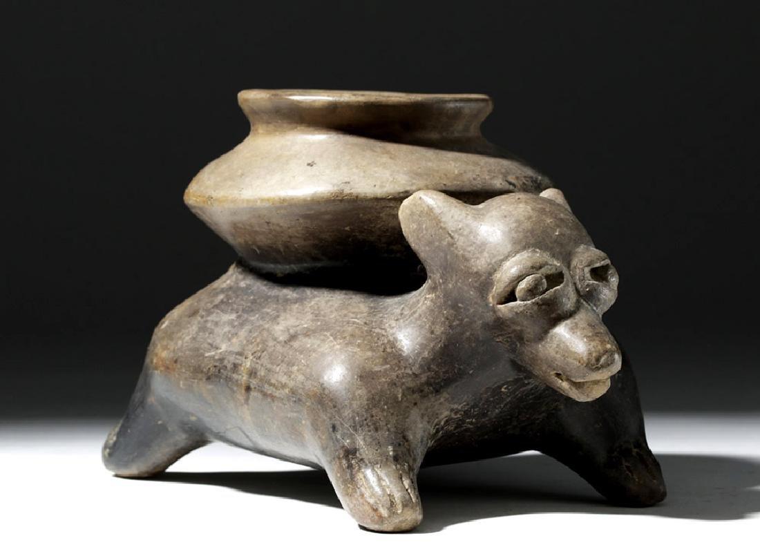 Jalisco Brownware Pottery Dog Olla