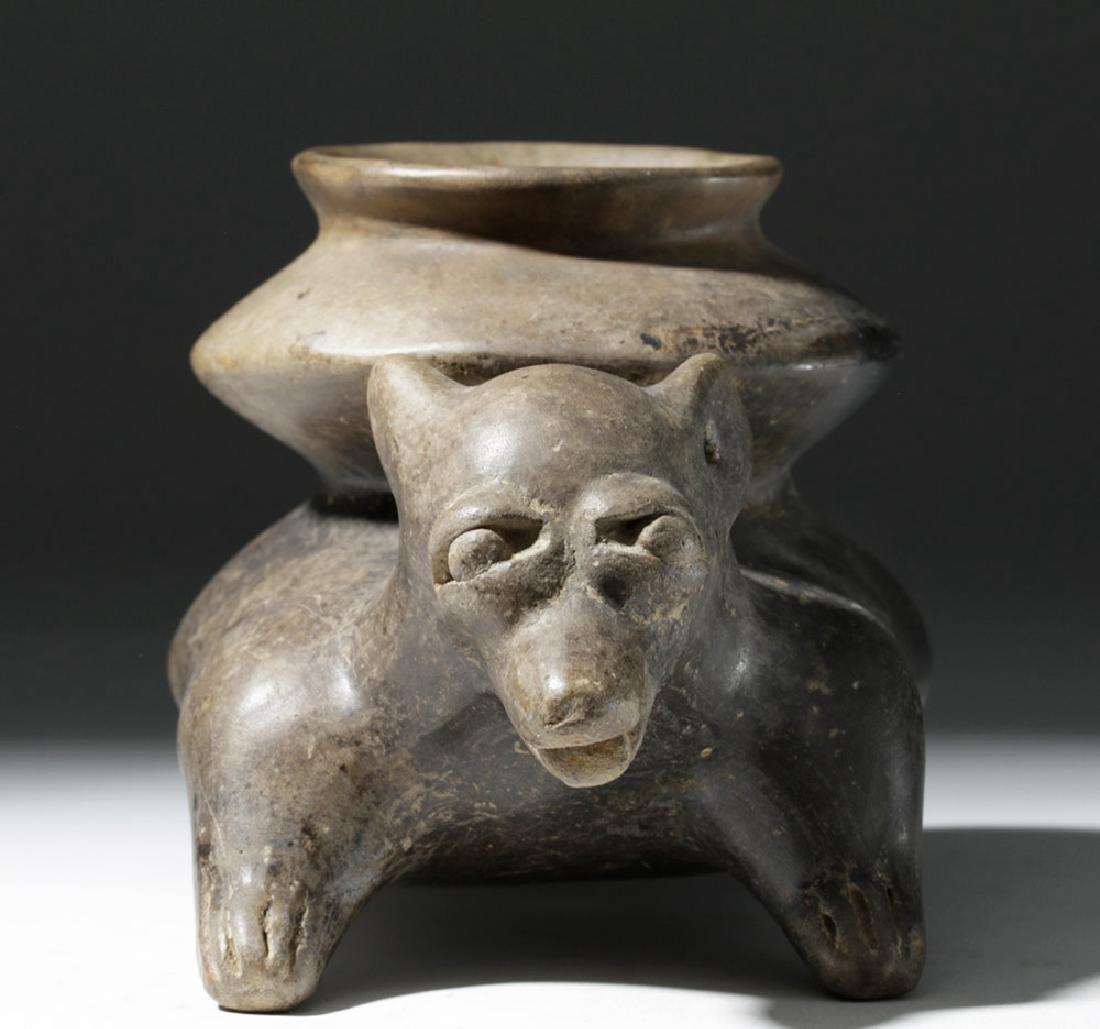 Jalisco Brownware Pottery Dog Olla - 5