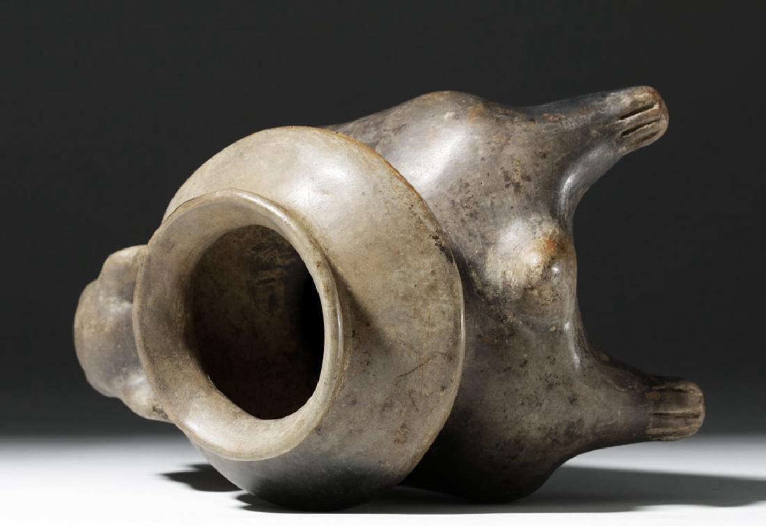 Jalisco Brownware Pottery Dog Olla - 8