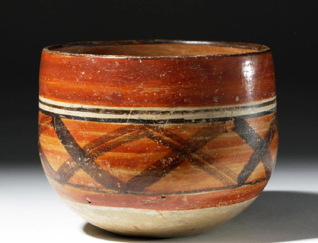Mayan Polychrome Ceremonial Cylinder