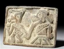 PreColumbian Manteno Stamp  Anamorphic Shaman