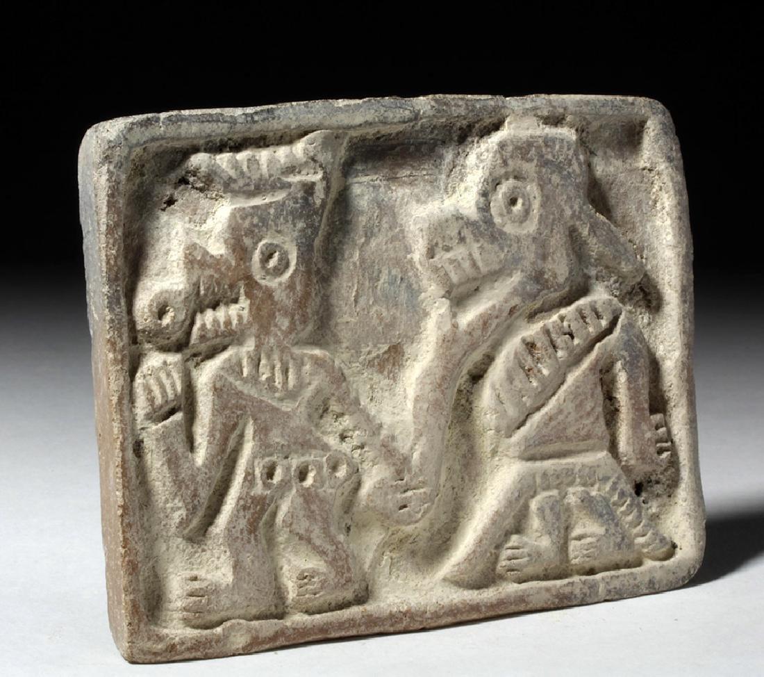 Pre-Columbian Manteno Stamp - Anamorphic Shaman - 3