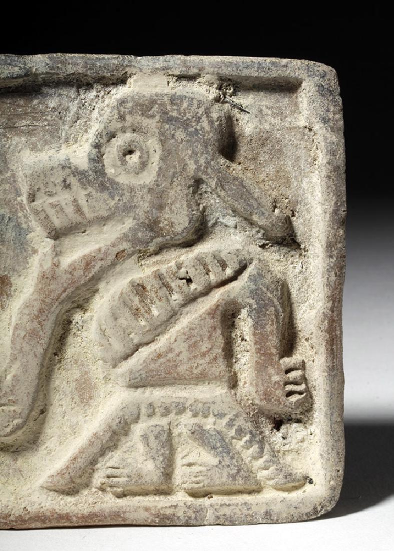 Pre-Columbian Manteno Stamp - Anamorphic Shaman - 4