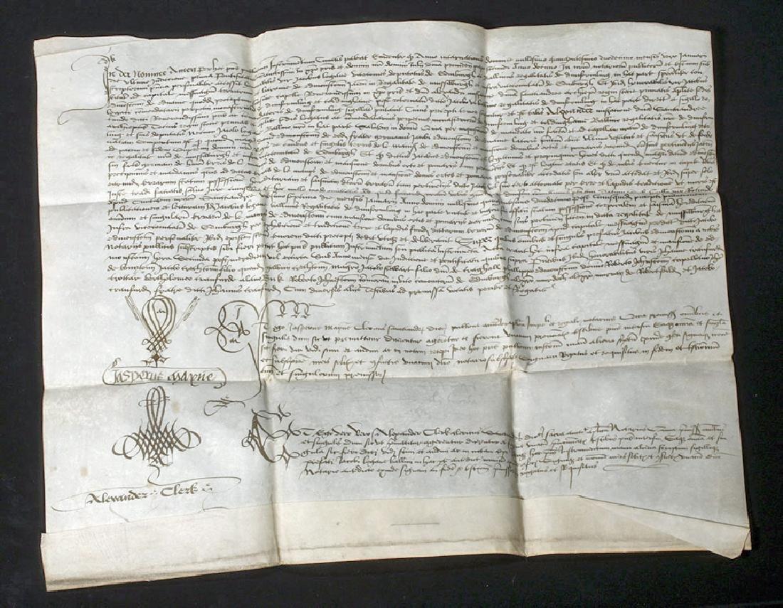 1512 Scottish Notarized Instrument (Sasine)