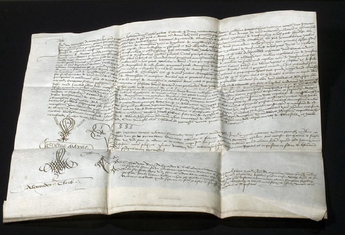 1512 Scottish Notarized Instrument (Sasine) - 2