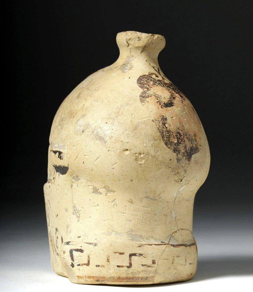 Greek Corinthian Aryballos of Helmeted Warrior - Rare! - 2