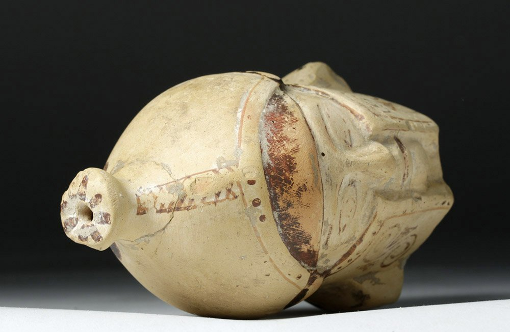 Greek Corinthian Aryballos of Helmeted Warrior - Rare! - 6