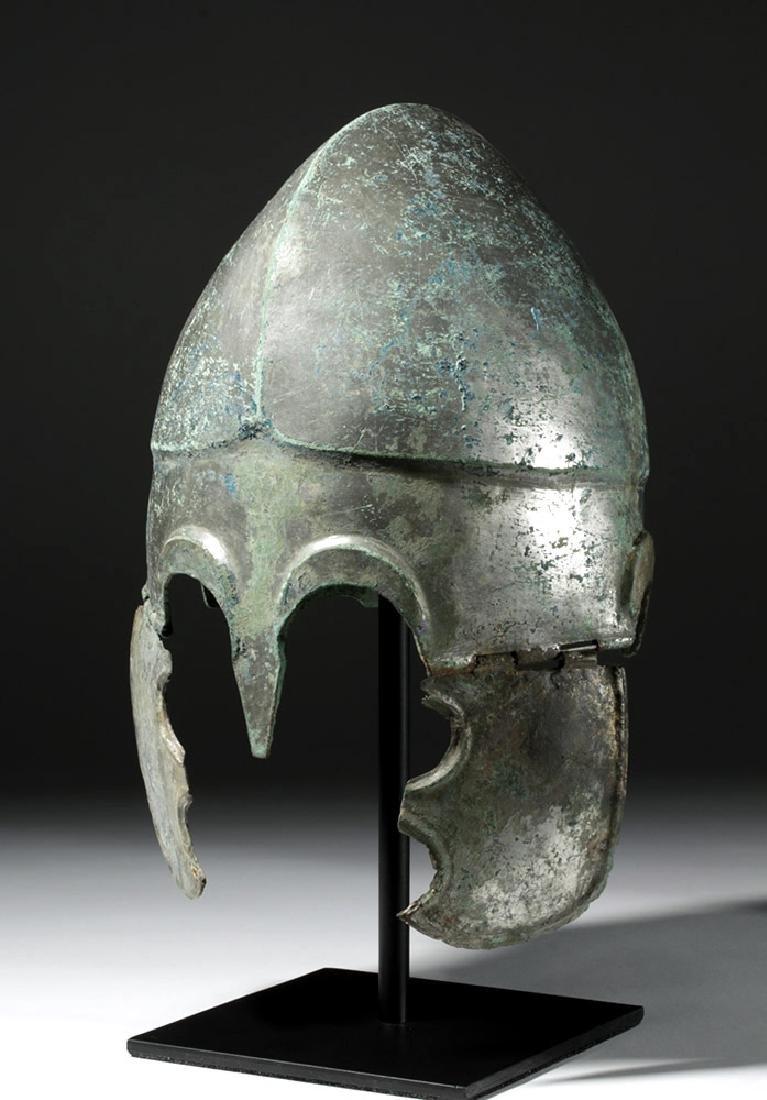 Important Chalcidian Tinned Bronze Helmet, ex-Gorny