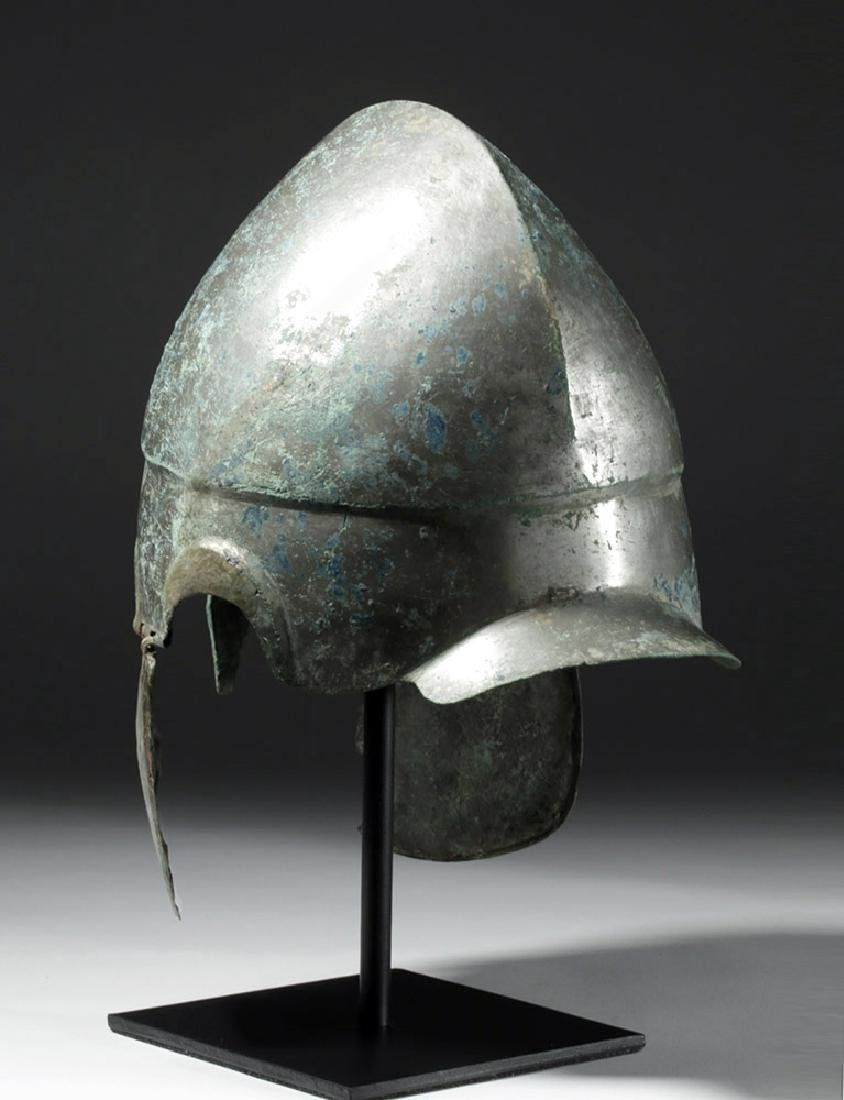 Important Chalcidian Tinned Bronze Helmet, ex-Gorny - 2
