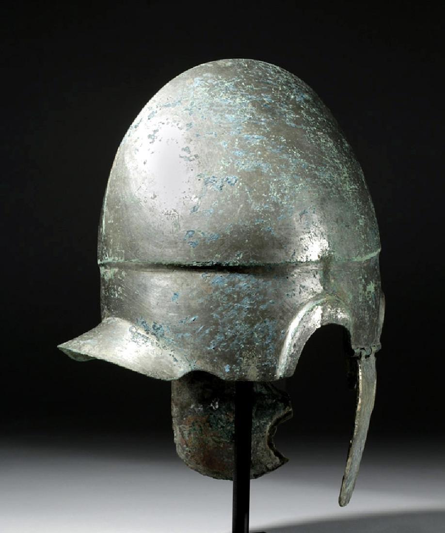 Important Chalcidian Tinned Bronze Helmet, ex-Gorny - 3