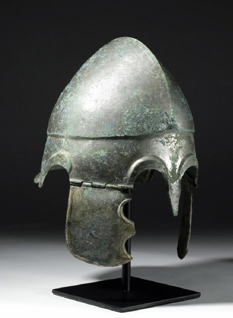 Important Chalcidian Tinned Bronze Helmet, ex-Gorny - 4