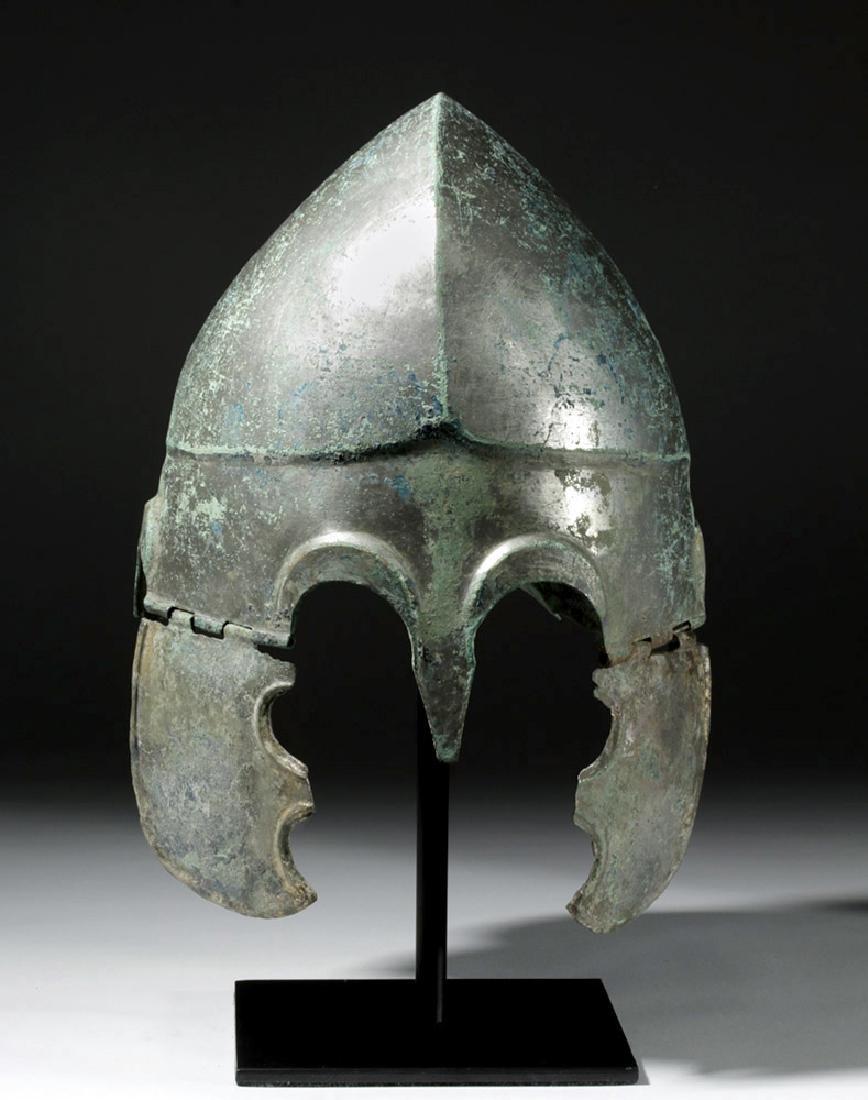 Important Chalcidian Tinned Bronze Helmet, ex-Gorny - 5