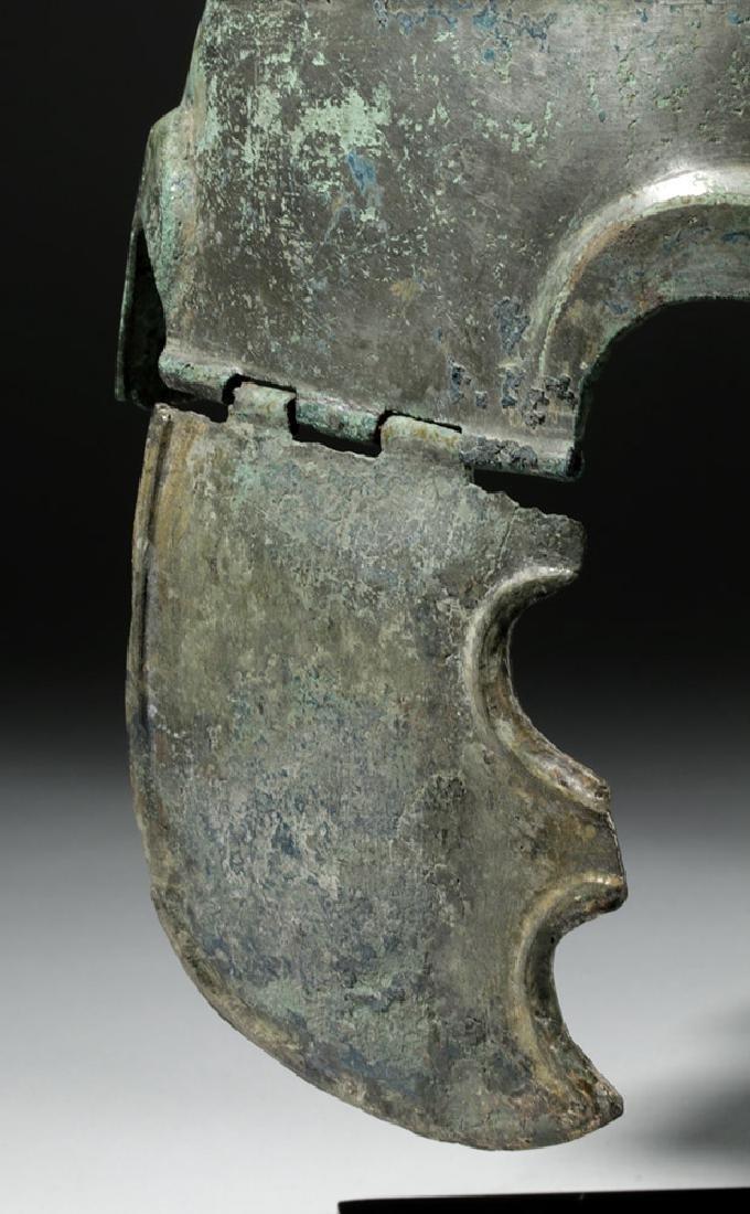 Important Chalcidian Tinned Bronze Helmet, ex-Gorny - 6
