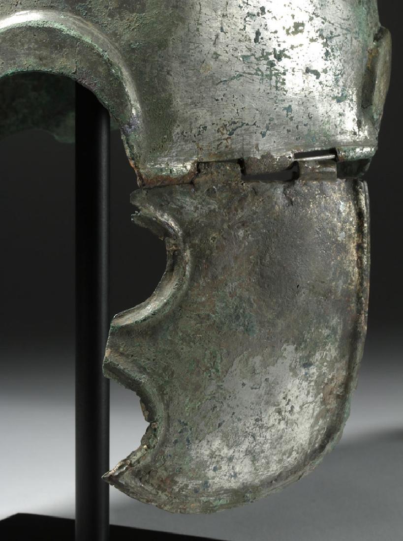 Important Chalcidian Tinned Bronze Helmet, ex-Gorny - 7