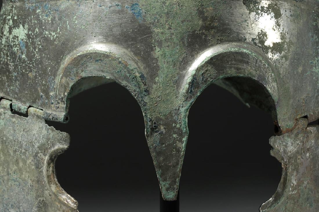 Important Chalcidian Tinned Bronze Helmet, ex-Gorny - 8