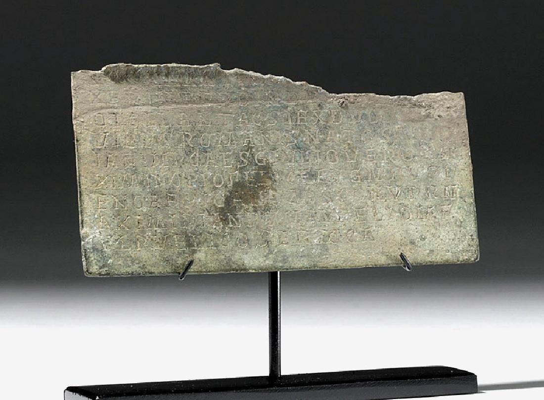 Rare Section of Roman Bronze Military Diploma - 4