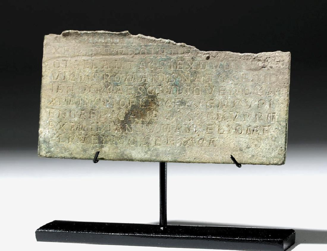 Rare Section of Roman Bronze Military Diploma - 5