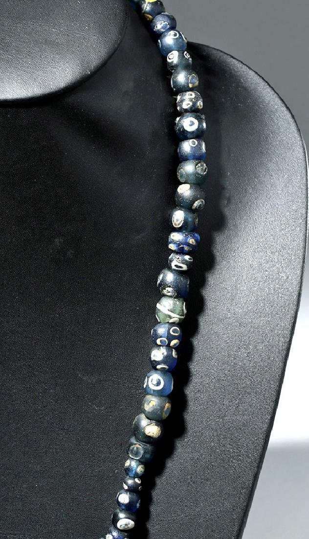 Strand of 71 Incredible Early Roman Glass Eye Beads - 4