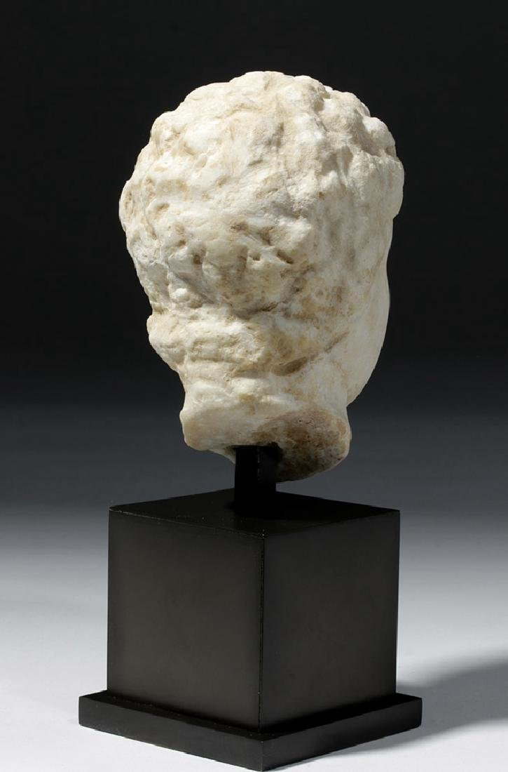Roman Marble Head of a Youth - 3