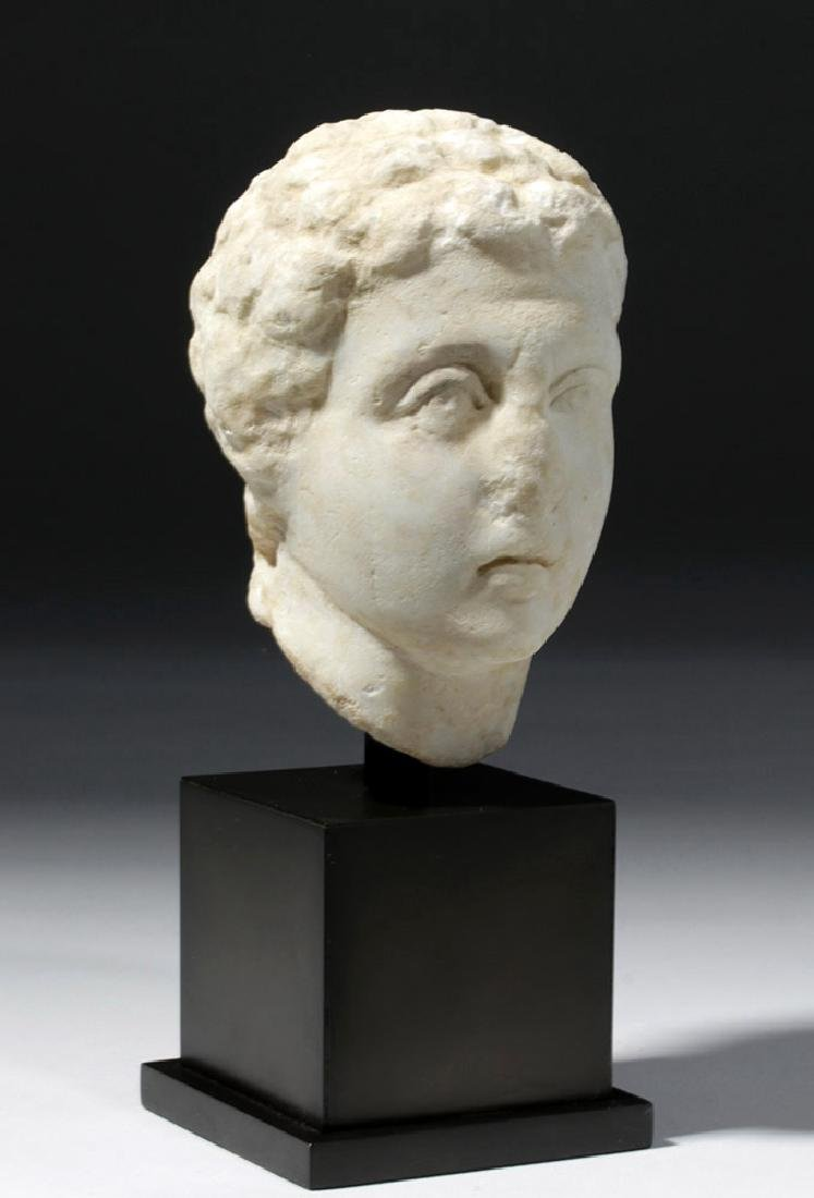 Roman Marble Head of a Youth - 4