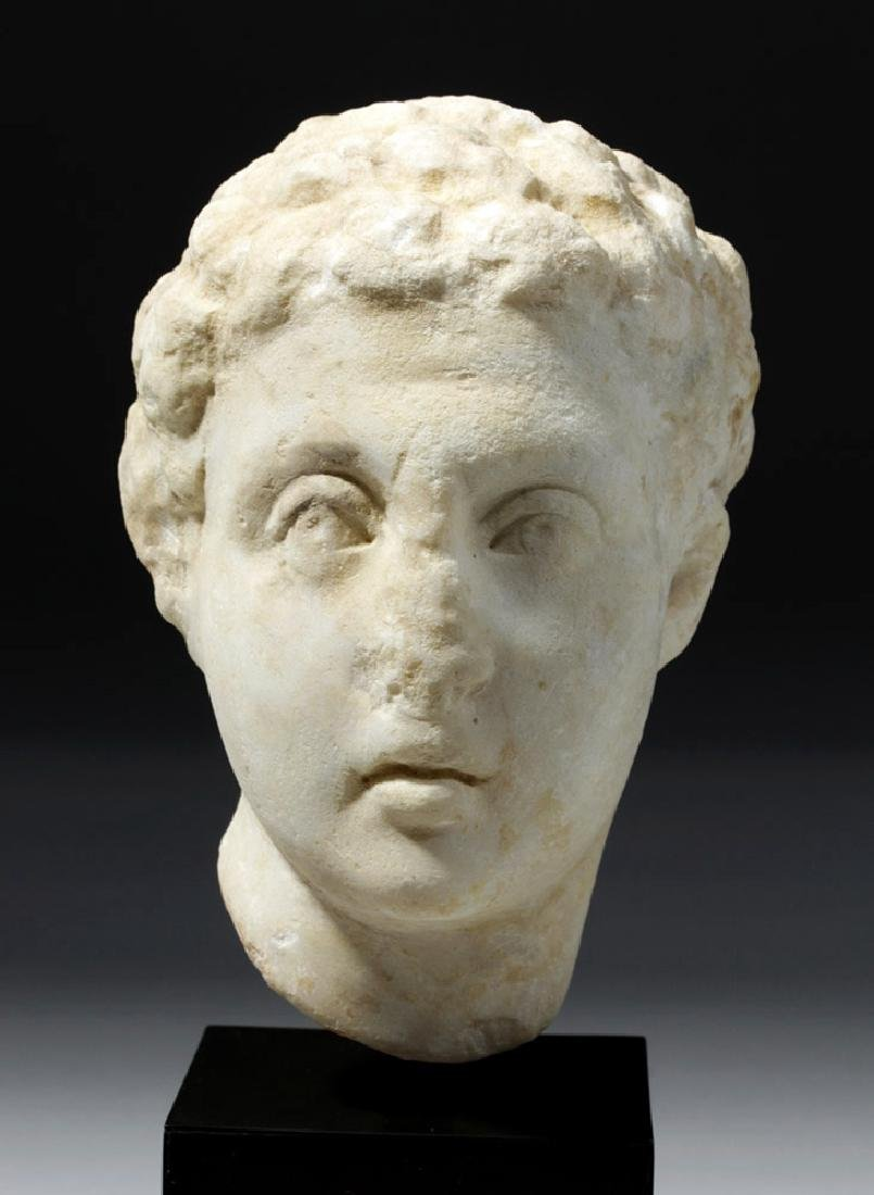 Roman Marble Head of a Youth - 5