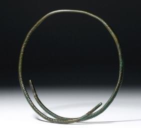 Ancient Viking Bronze Neck Torc