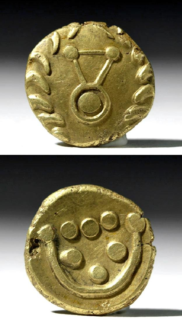 "Extremely Rare Celtic / Gaul ""Rainbow Cup"" Gold Stater"