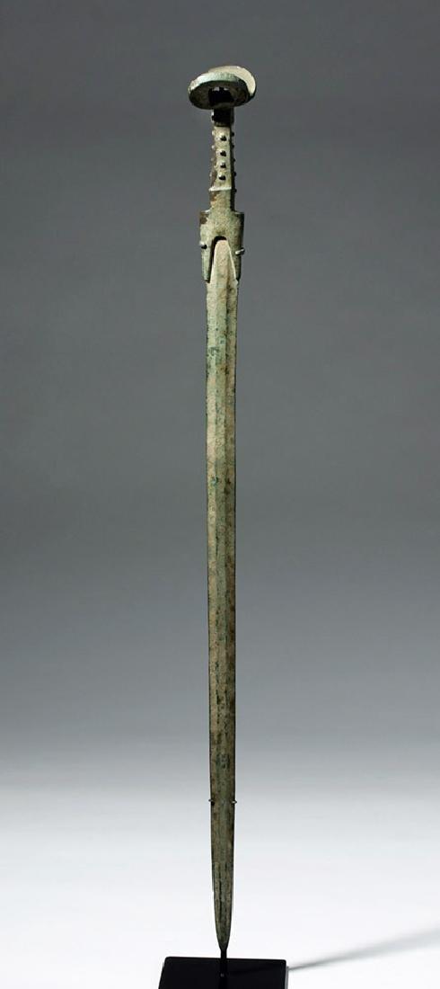 Massive Luristan Bronze Sword with Double Ears - 5