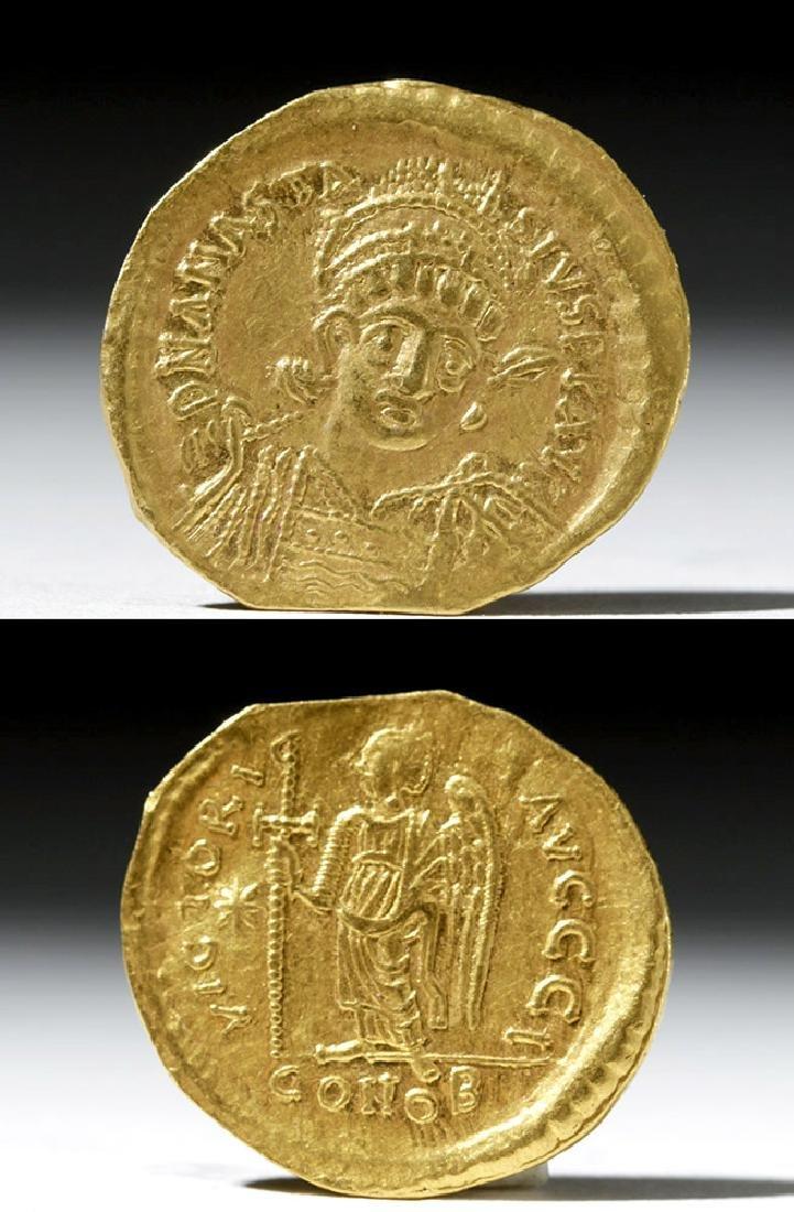 Anastasius I Gold Solidus - Constantinople Issue