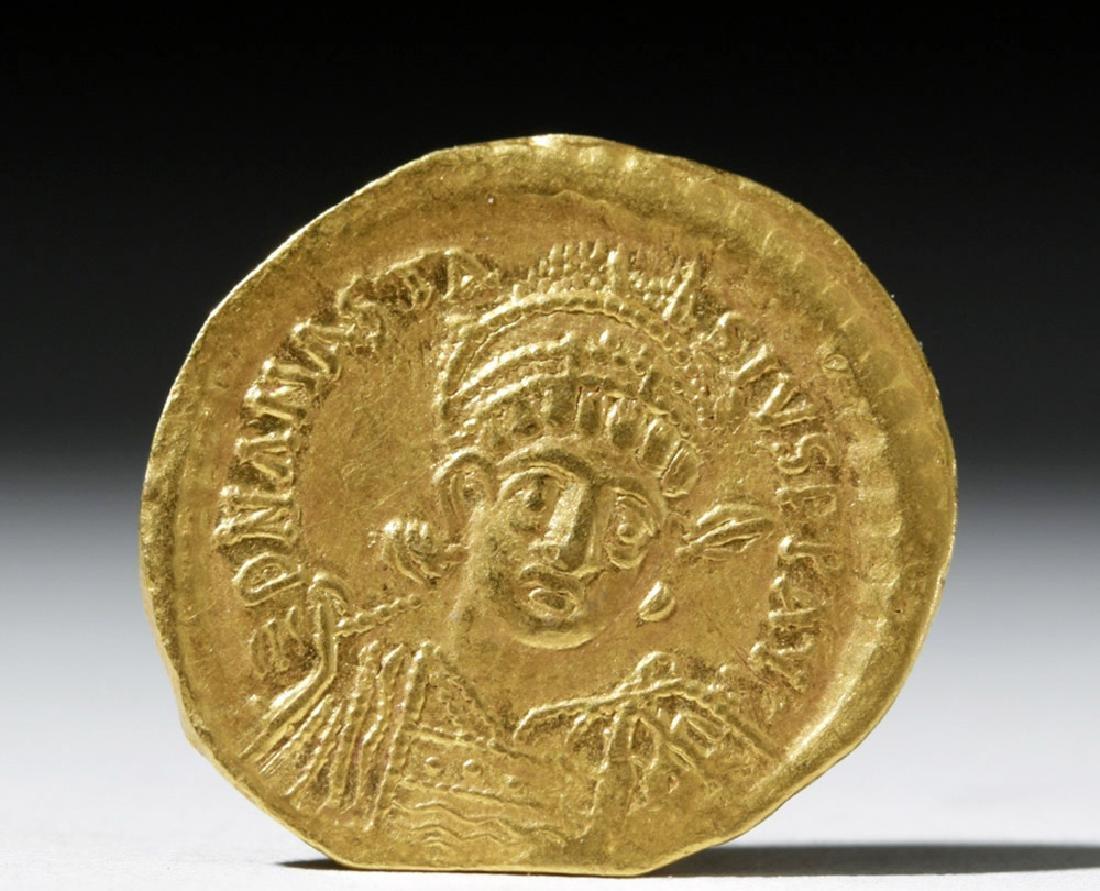 Anastasius I Gold Solidus - Constantinople Issue - 2