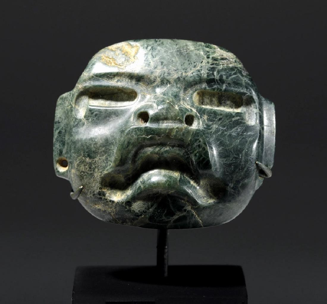 Fine Olmec Greenstone Maskette